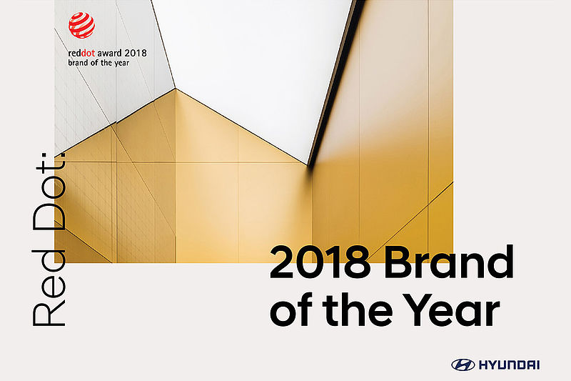 "Hyundai Motor erhält Titel ""Red Dot: Brand of the Year 2018"""